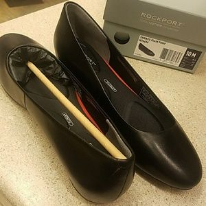 Rockport flat shoes waterp genuine leather size 10